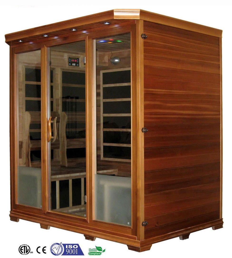 4 Person Canadian Redwood Cedar FIR Infrared Sauna