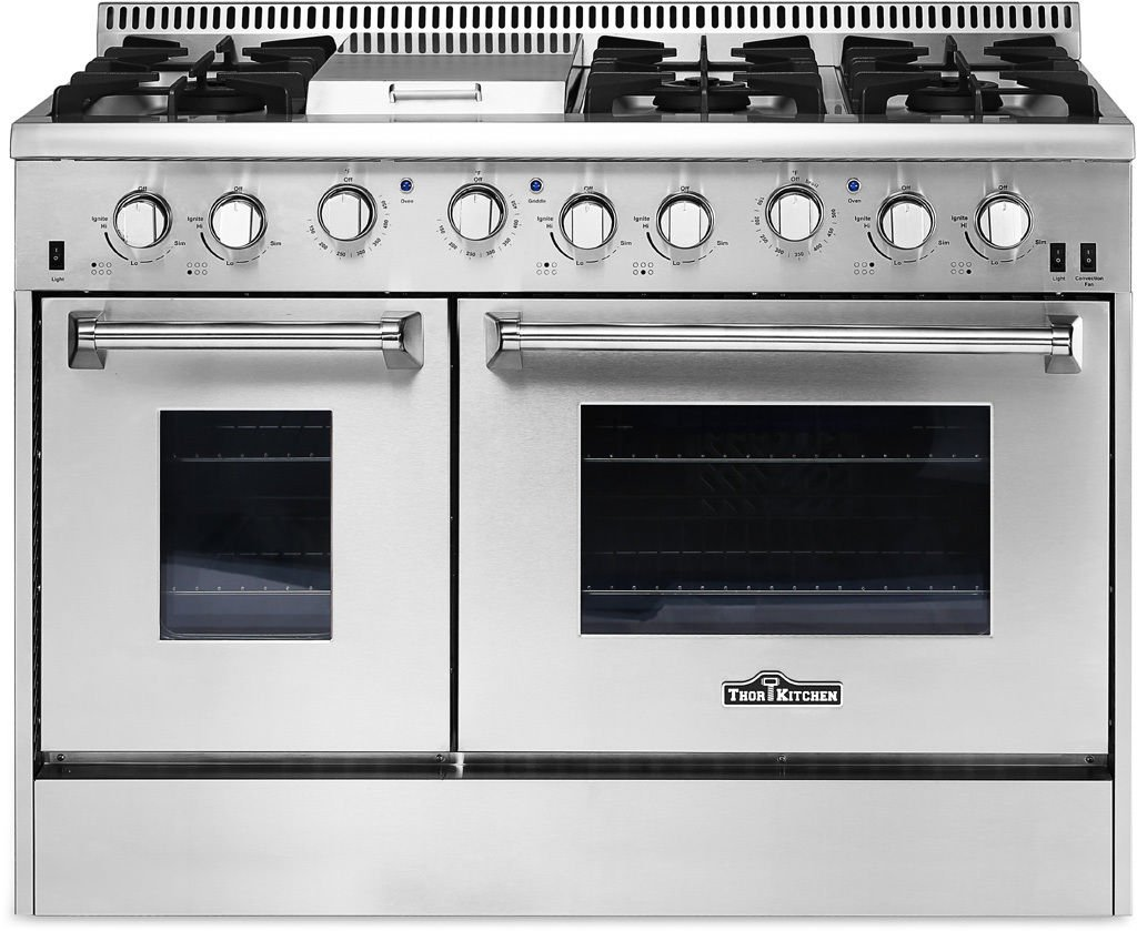 """Thor Kitchen 48"""" Professional Gas Range Stove Oven w/ Griddle HRG4808"""