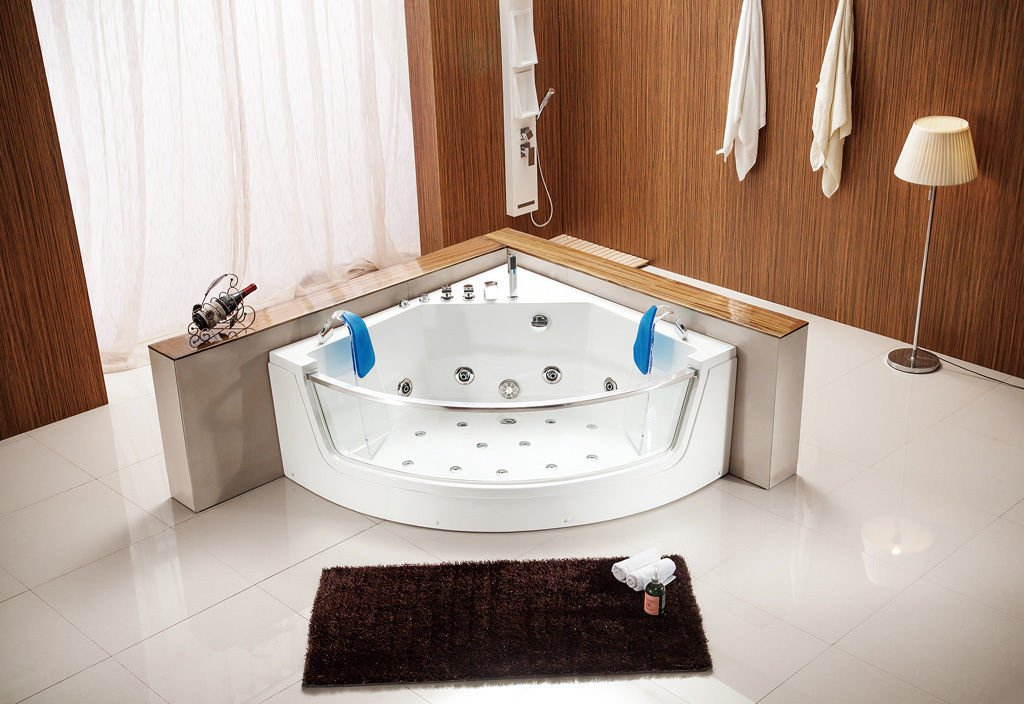 Indoor Computerized Hydrotherapy Whirlpool Jetted Massage Bathtub SPA HEAT - 053A
