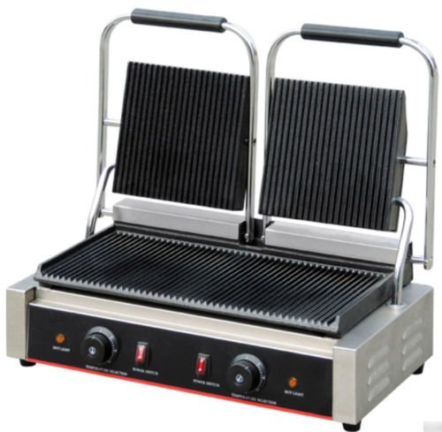 Panini Sandwich Grill Press Commercial Stainless Steel Countertop (Double)