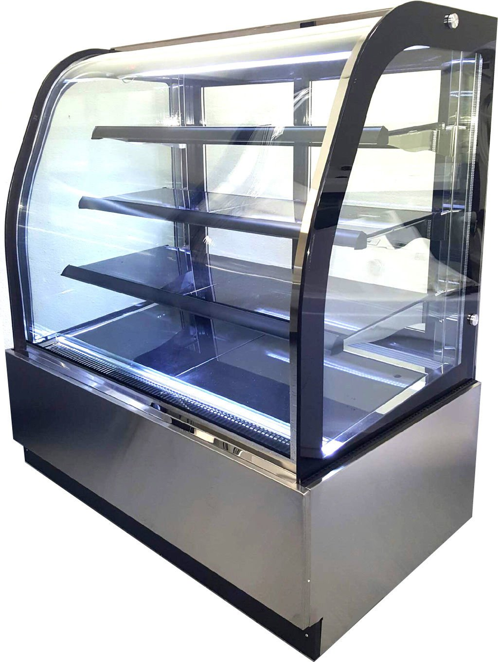 """47"""" Curved Glass Front Cake Display Case Merchandiser - GL-840A"""
