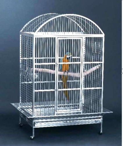Bird Cage Stainless Steel Macaw Parrot Wire Dometop