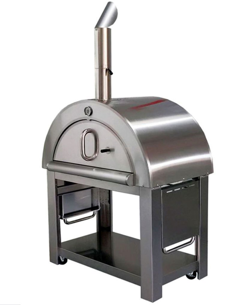pizza oven xl size wood fired outdoor stainless steel bbq grill. Black Bedroom Furniture Sets. Home Design Ideas