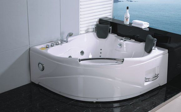 2 Person Jetted Whirlpool Massage Hydrotherapy Bathtub Tub Indoor - 005A - White