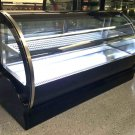 "59"" Curved Glass Stainless Steel Deli Cake Display Case Refrigerator Countertop"