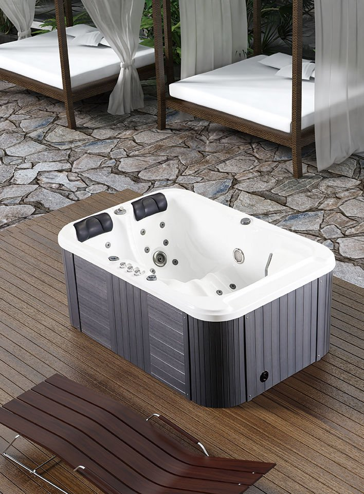 2 Person Hydrotherapy Bathtub Hot Bath Tub Whirlpool Jacuzzi type ...