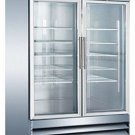 "54"" 2 Door Glass Freezer CFD-2FF-G Stainless Steel Trim LED Lighting"