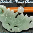 Green Jadeite Jade Lotus Ruyi Yuyi Necklace ~ STONE OF HEAVEN