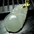 Pale Green Jadeite Peach Ruyi Necklace ~ Gift Boxed ~ STONE OF HEAVEN