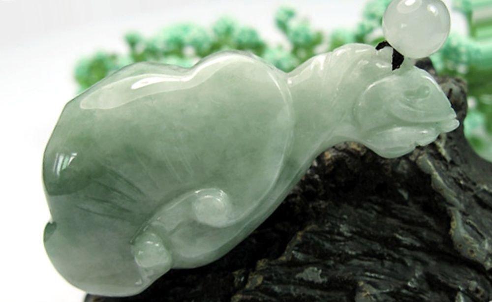 Mens Dragon Head Ruyi Green Jade Necklace ~PROSPERITY~LONGEVITY~ YEAR OF DRAGON