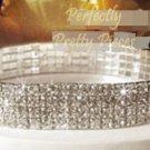 Clear Czech Crystal 4 ROW Ankle Bracelet Anklet ~Wedding~Prom