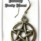 Mens Pentagram Pentacle Dangle Earring WICCA EMO GOTH