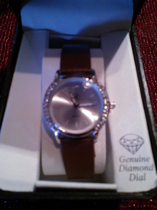 Beverly Hills Polo Club Diamond and Chrystal Wristwatch Brown