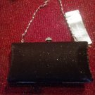 Karen Carson Crystal Jeweled and Blinged Black Handbag