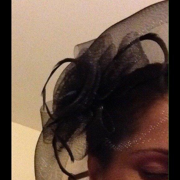 Sold!!! Black Derby Fascinator Hat