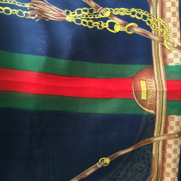 Gucci Equestrian, Monogram, & Stripe Silk Scarf