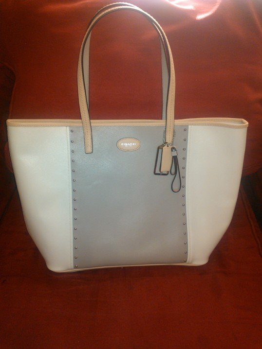 Coach Metro Colorblock Studded Tote and Key Chain