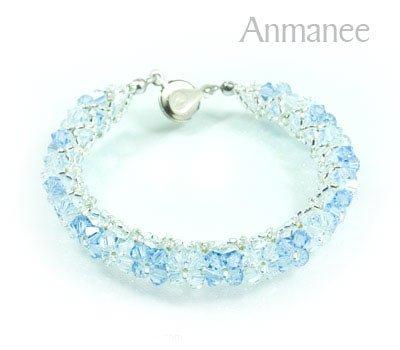 Handcrafted Swarovski Crystal Bracelet - Pikul-Single-High 010258