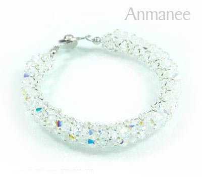Handcrafted Swarovski Crystal Bracelet - Pikul-Single-High 010261