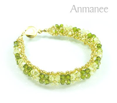 Handcrafted Swarovski Crystal Bracelet - Pikul-Single-High 010262