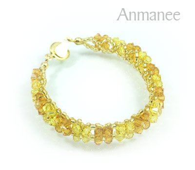 Handcrafted Swarovski Crystal Bracelet - Pikul-Single-Low 010266