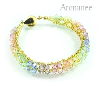 Handcrafted Swarovski Crystal Bracelet - Pikul-Single-Low 010267