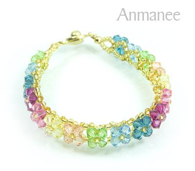 Handcrafted Swarovski Crystal Bracelet - Pikul-Single-Low 010269