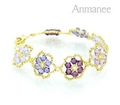 Handcrafted Swarovski Crystal Bracelet - Pellet Queen 010242
