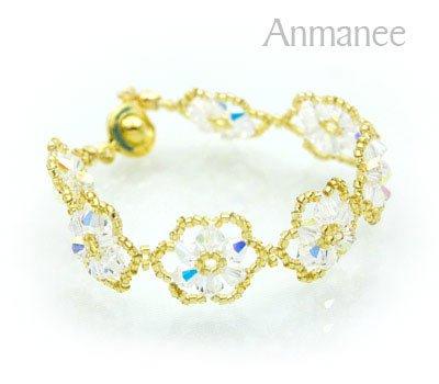 Handcrafted Swarovski Crystal Bracelet - Pellet Queen 010249