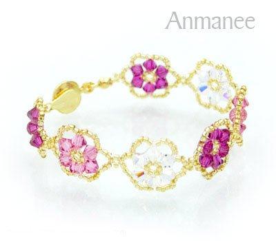 Handcrafted Swarovski Crystal Bracelet - Pellet Queen 010251
