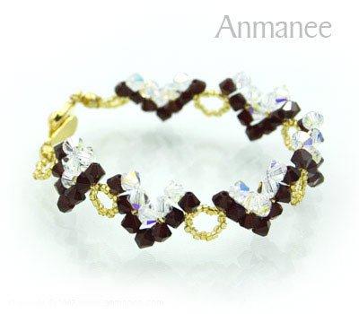 Handcrafted Swarovski Crystal Bracelet - Classic V 01026