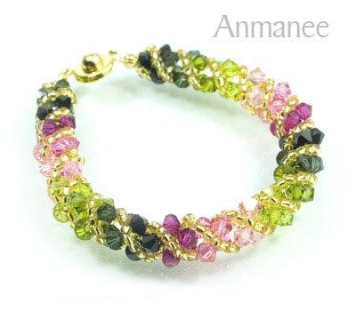 Handcrafted Swarovski Crystal Bracelet - Twist-S 0102109