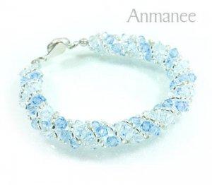 Handcrafted Swarovski Crystal Bracelet - Twist-S 0102114