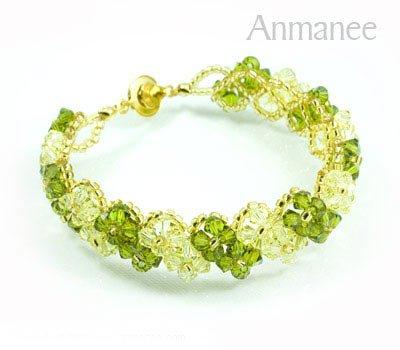 Handcrafted Swarovski Crystal Bracelet - Pikul V 010273