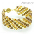 Handcrafted Swarovski Crystal Bracelet - Lace 010224