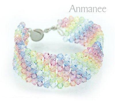 Handcrafted Swarovski Crystal Bracelet - Lace 010225