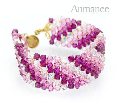 Handcrafted Swarovski Crystal Bracelet - Lace 010226