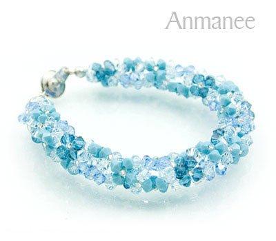 Handcrafted Swarovski Crystal Bracelet - Twist-L 010293