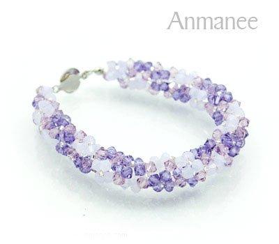 Handcrafted Swarovski Crystal Bracelet - Twist-L 010292