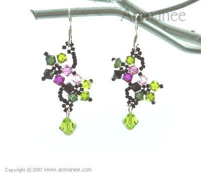 Handcrafted Swarovski Crystal Earrings 010333