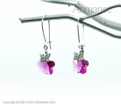 Handcrafted Swarovski Crystal Earrings 01031