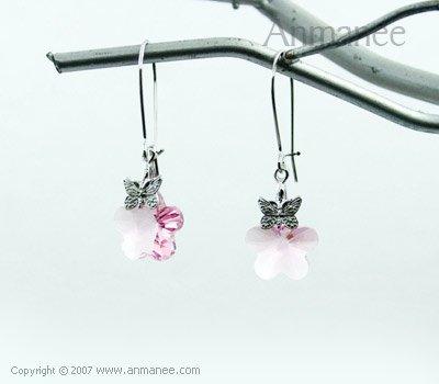 Handcrafted Swarovski Crystal Earrings 01035