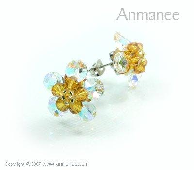 Handcrafted Swarovski Crystal Earrings 010315