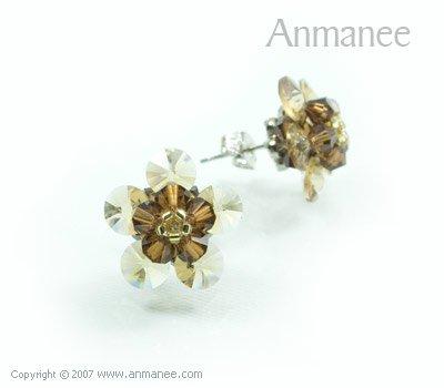 Handcrafted Swarovski Crystal Earrings 010317