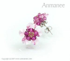 Handcrafted Swarovski Crystal Earrings 010318