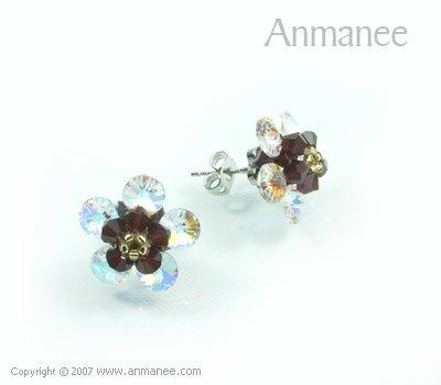 Handcrafted Swarovski Crystal Earrings 010320