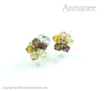 Handcrafted Swarovski Crystal Earrings 010329