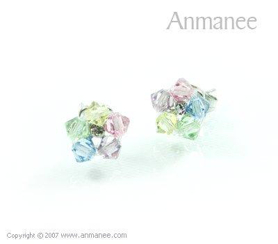 Handcrafted Swarovski Crystal Earrings 010331