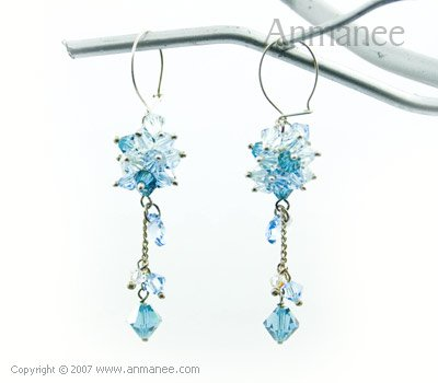 Handcrafted Swarovski Crystal Earrings 010312