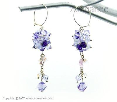 Handcrafted Swarovski Crystal Earrings 010314
